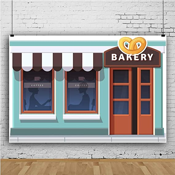 YEELE 10x8ft Cartoon Cafe Kitchen Backdrop Kids Birthday Party Photography Background Cake Smash Party Table Decor Prek Kids Acting Show Photo Booth Props Digital Wallpaper