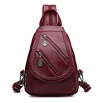 Image Unavailable. Image not available for. Color  yaonow Women s Leather  Backpack ... e328ef6e91