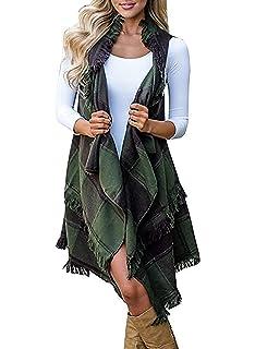 JOSSOIOJ Womens Casual Sherpa Fleece Lightweight Fall Warm Zipper Vest with Pockets