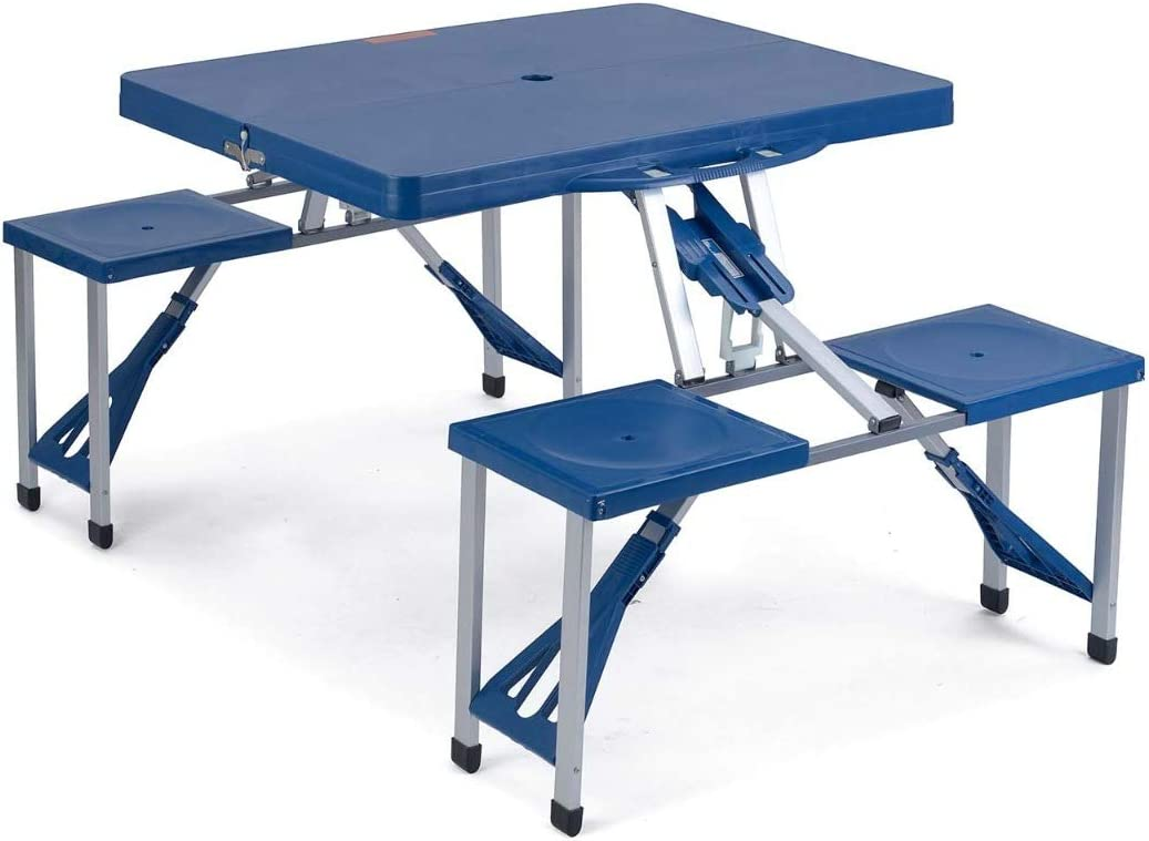 - Trail Portable Folding Picnic Table Chairs Set, Outdoor, Camping