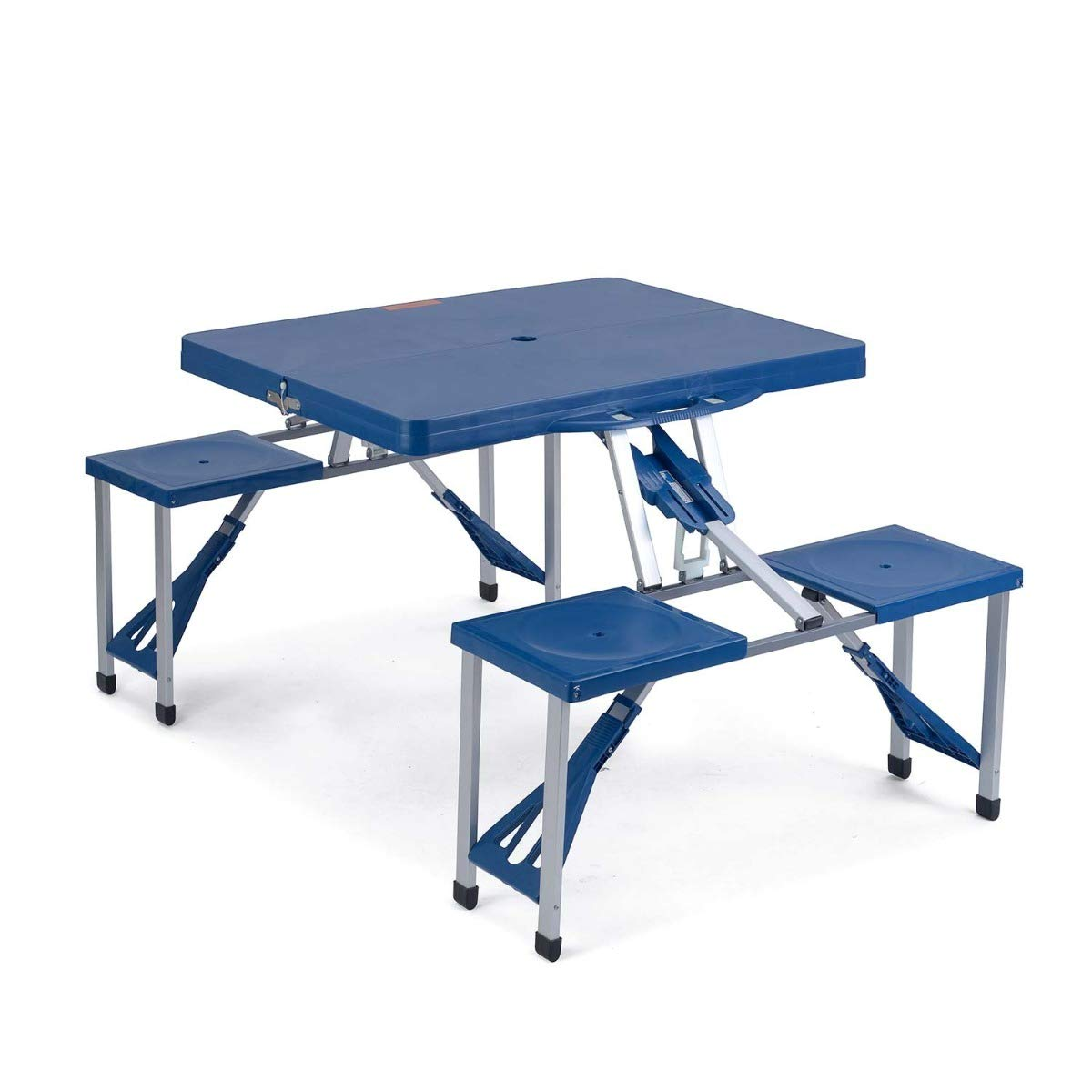 Trail Portable Folding Picnic Table Chairs Set Outdoor Camping
