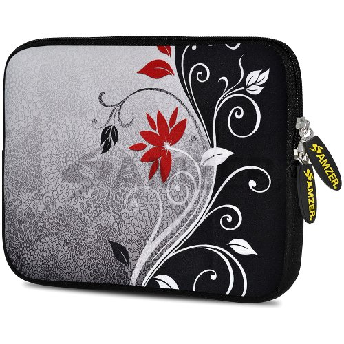 (Amzer 7.75-Inch Designer Neoprene Sleeve Case Cover Pouch for Tablet, eBook and Netbook - Verona Swirl (AMZ5126077) )