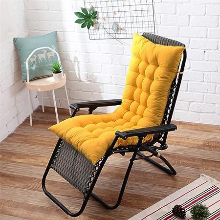 AINIYUE Cojín para Tumbona, cojín reclinable para Muebles de jardín para Patio Cojín de Repuesto con Correas elásticas, para/Interior/Exterior Los 48X125cm Amarillo: Amazon.es: Hogar