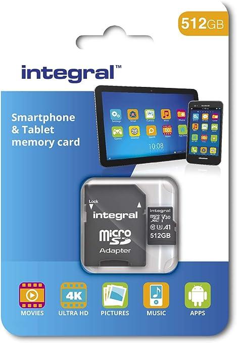 Integral 512GB Memoria Flash MicroSDXC Clase 10 UHS-I - Tarjeta de ...