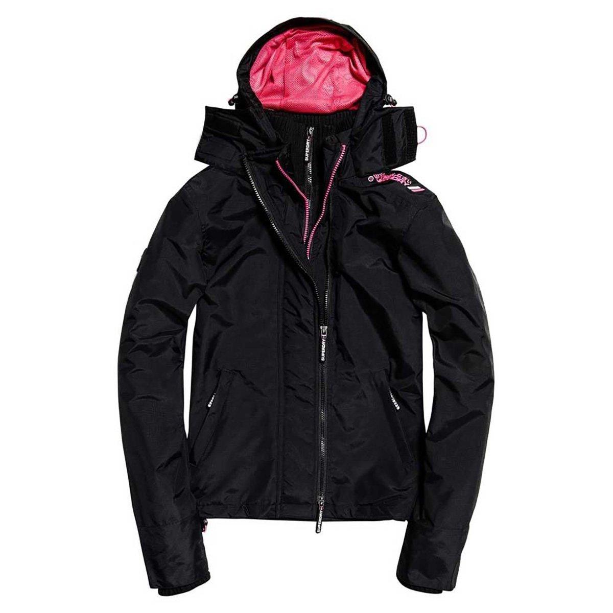 Superdry Women's Tech Hood Pop Zip Windcheater Jacket