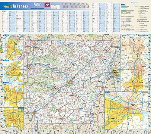 Arkansas County Maps - Arkansas State Wall Map - 20.75