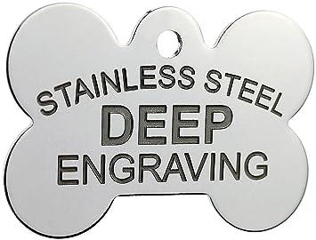 amazon com stainless steel custom deep engraved pet id tags