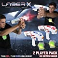Laser X Real-Life Laser Gaming Experience Two Player Set - Batteries Included