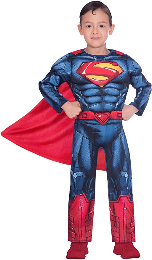 Disfraz de superman clásico para niño (edad 4-6 años): Amazon.es ...