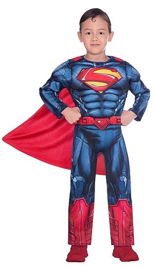 Disfraz de superman clásico para niño (edad 8-10 años): Amazon.es ...