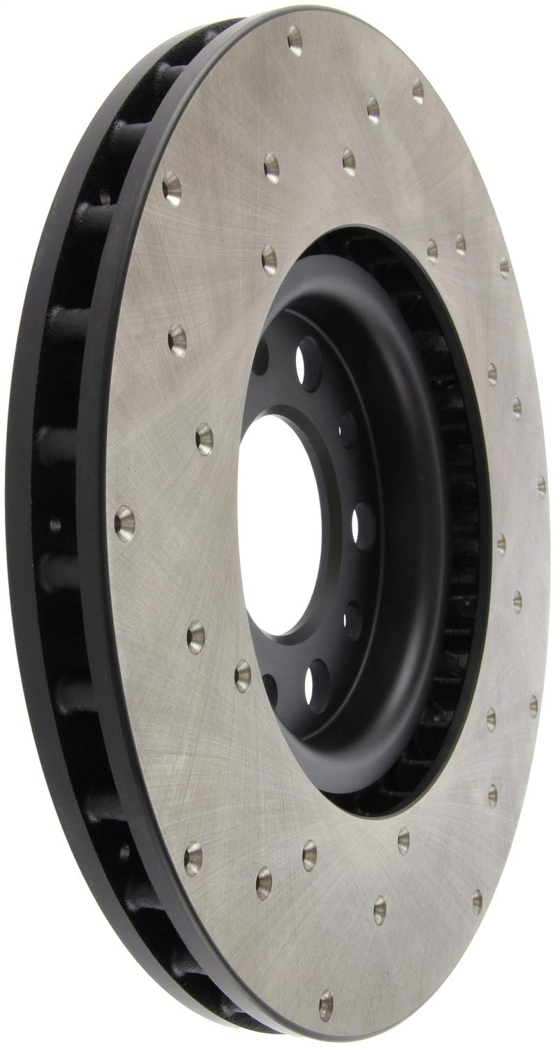 Left StopTech 128.63080L Sport Drilled Rotor