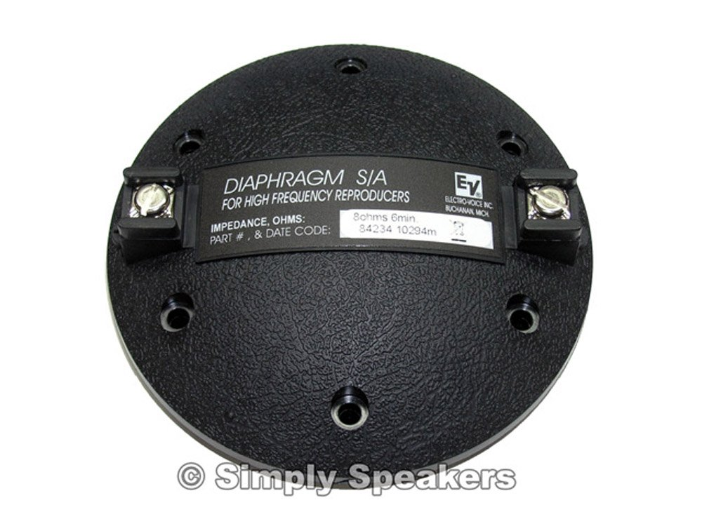 Electro Voice Factory Speaker Replacement Horn Diaphragm, DH5, DH6, DH7, N/DYM5, F01U110650, 84234XX