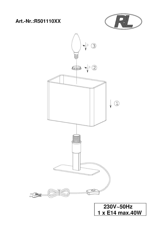 reality leuchten tischlampe tischleuchte 1xe14 max 40w ohne leuchtmittel 23 x 20 cm mit. Black Bedroom Furniture Sets. Home Design Ideas