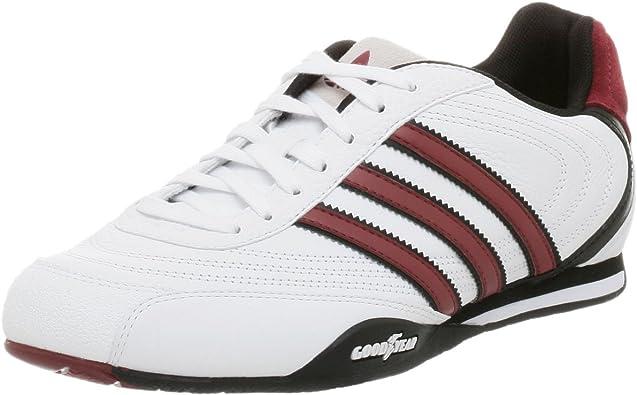 ironía Calibre rebanada  Amazon.com | adidas Originals Men's Goodyear Street Leather Sneaker,  White/Black/Cardinal, 9.5 M | Fashion Sneakers
