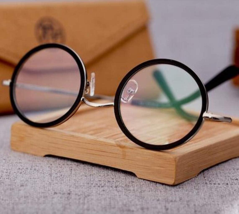 老眼鏡ヴィンテージオーバル近視メガネフレームラウンドフレームの眼鏡は、高齢者の読書ミラー休日やクリスマスプレゼントをUNISEX (Color : Black, Size : +1.5x)