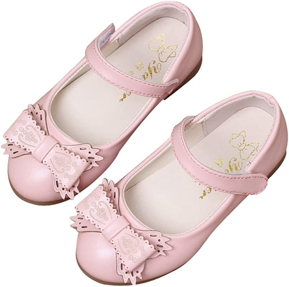 T-JULY Toddler Little Girls Dress Ballet T Strap Flat Shoes Breathable Anti-Slip Mary Jane Shoes