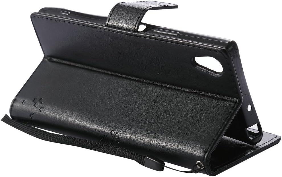Violet Clair 5.0 Embossed TPU C et FQY-TEC Sony Xperia XA1 Coque,G3121//G3112 Coque, Cuir PU 2017 Porte-Monnaie,Fente pour Carte,Stand Coque pour Sony Xperia XA1