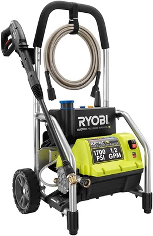 Ryobi RY14122 1700 PSI 1.2 GPM High Pressure Electric Power Washer w/3 Nozzles