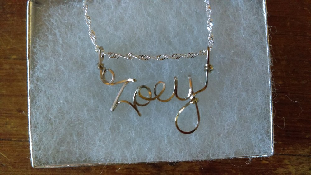 Amazon.com: Wire Name necklace, Personalized name, JORDAN or ANY ...