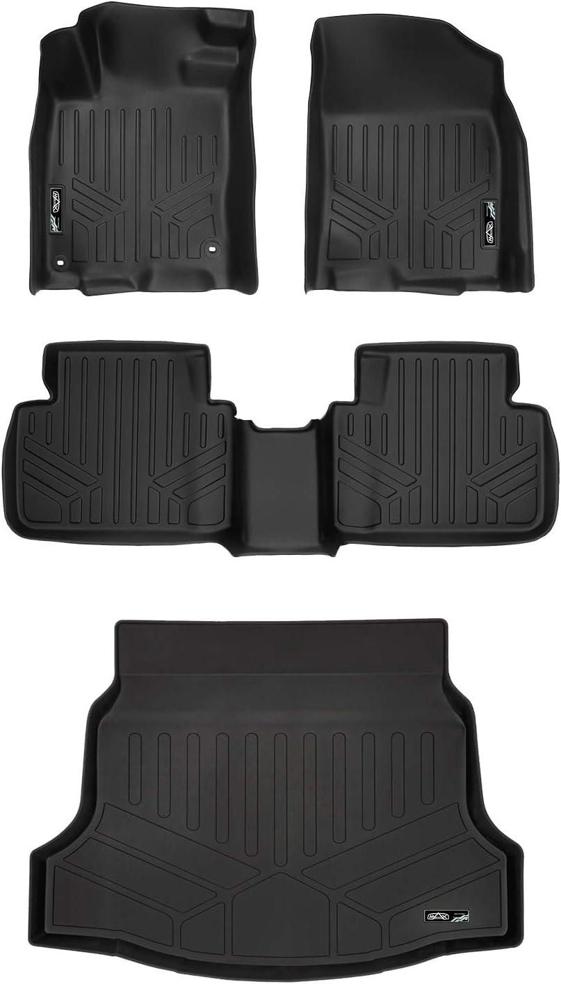 SMARTLINER Custom Floor Mats and Cargo Liner Set Black for 2017-2019 Honda Civic Hatchback No Sport or Sport Touring Models