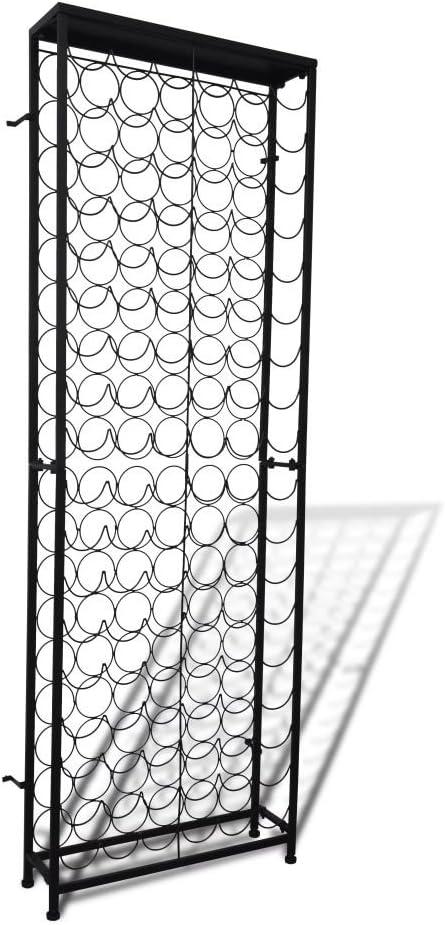 mewmewcat Botellero de Metal para 108 Botellas 65 x 24 x 191 cm