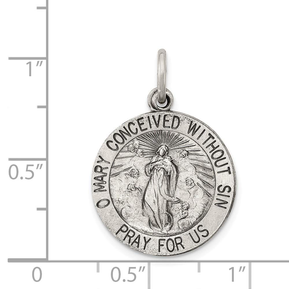 925 Sterling Silver Antiqued Ble925 Sterling Silver ed Mother Medal