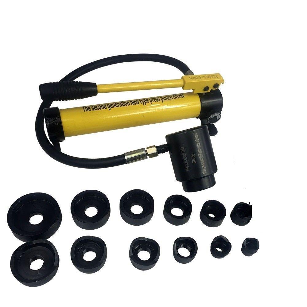 oukaning 10T hidráulico punzonado (perforadora de Hojalata) 22 - 60 mm Puncher agujero Hierro: Amazon.es: Bricolaje y herramientas