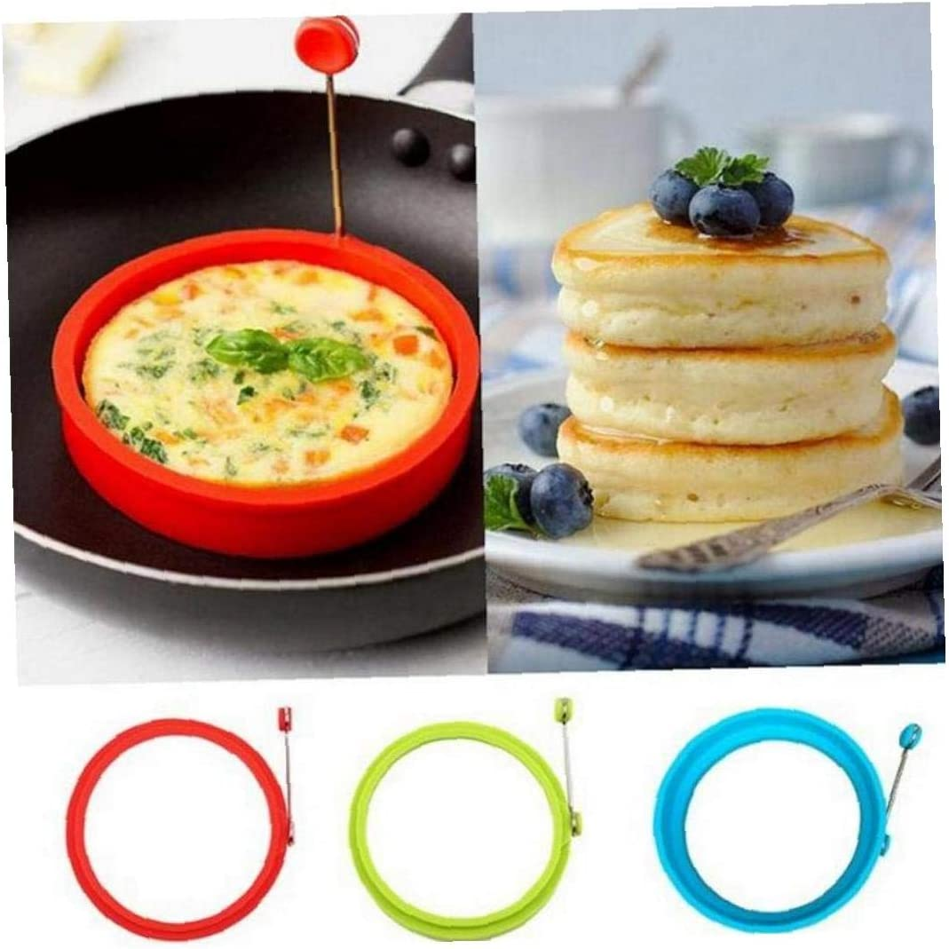 BYFRI Silicone Uovo Frittata Uovo Fritto Pancake della Muffa per Cucinare Colazione Padella Forno Cucina Colore Casuale