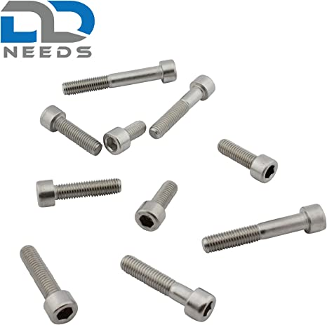 Zylinderschrauben mit Innensechskant Zylinderkopfschrauben VPE: 10 St/ück Edelstahl A2 V2A M6 x 20 DIN 912 D2D