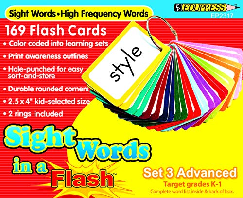 hand2mind 65501 Sight Words in a Flash Advanced Flash Card Set