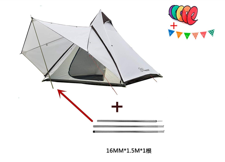 VADI-LIDSO ワンポールテント 4人用 320 x 260 x 200 CM 防水 2000-3000mm 二層構造 蚊帳付 4シーズン テント ホワイト