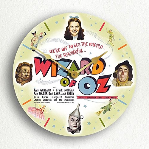MYTIME- Wizard of Oz Classic Movie Poster Artwork Silent Wall Clock 12 inch