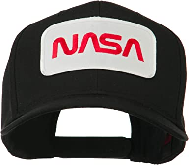 e4Hats.com Black NASA Embroidered Patched High Profile Cap