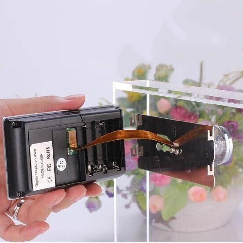 C/ámara WiFi interior mirilla puerta blindada con pantalla LCD de 3,5 pulgadas un sistema de monitoreo dom/éstico gran angular de 120 grados
