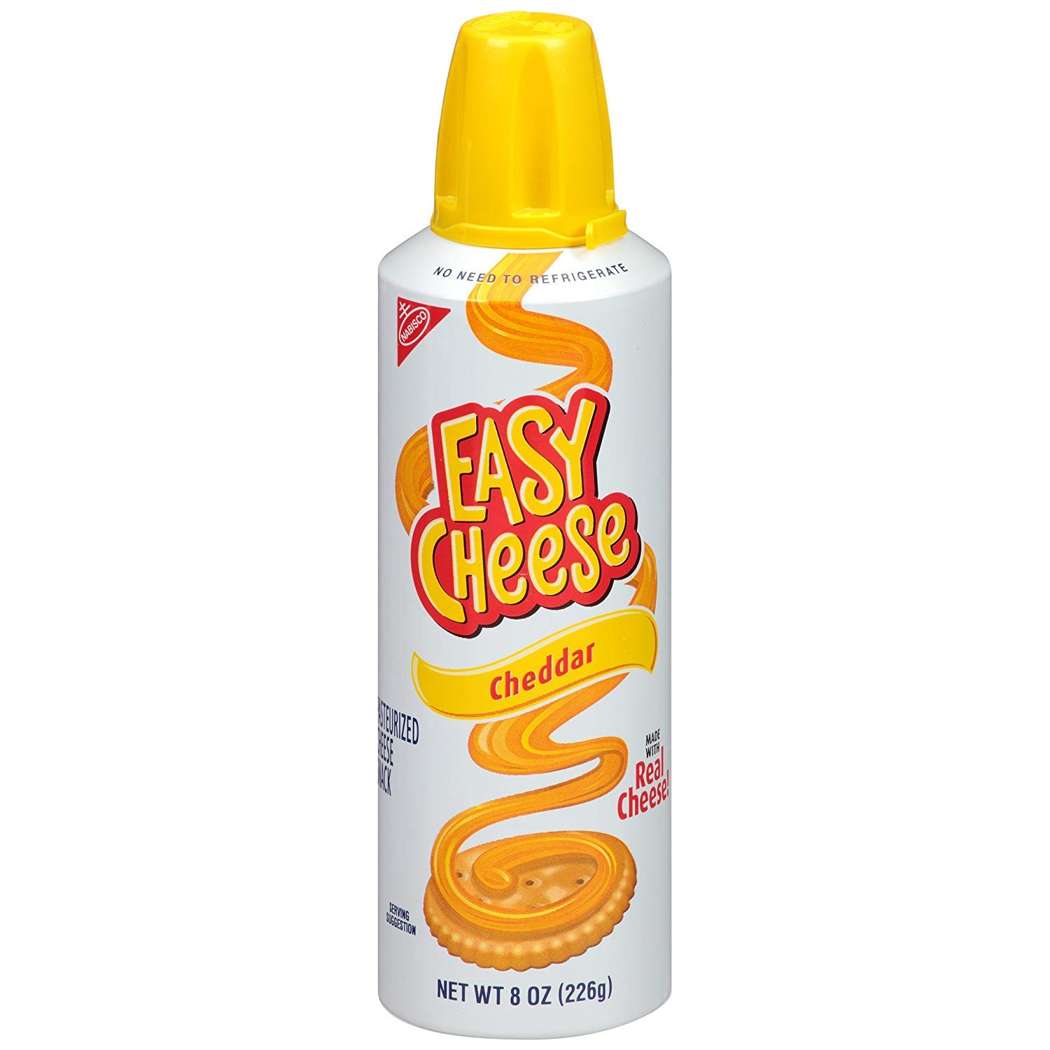 Easy Cheese Cheddar Cheese Snack, 8 Ounce (Pack of 12) ((3 Pack of 12)) by Easy Cheese (Image #1)