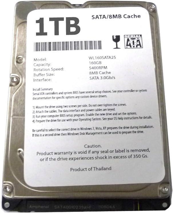 Generic 1TB 1000GB 2.5 Inch Sata Laptop Internal Hard drive 5400 RPM For Laptop//Mac//PS3 1TB 9.5mm