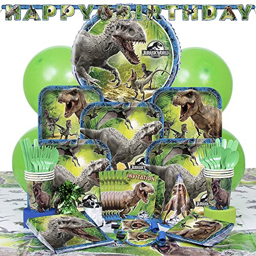 Deluxe Jurassic World Party Supplies Kit for (Birthday Deluxe Party Kit)