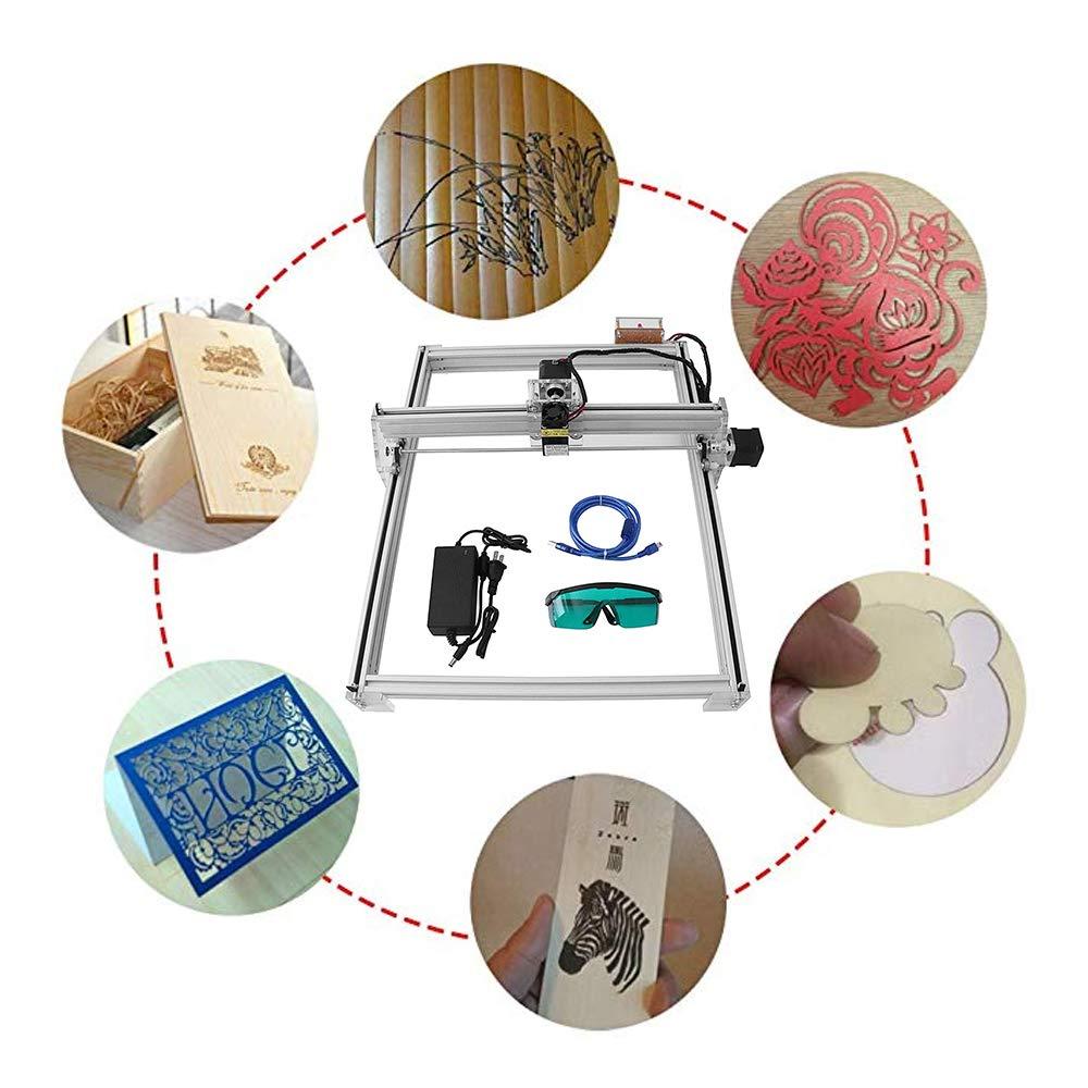 Impresora de escritorio de 2 ejes para madera Madera TOPQSC 10W M/áquina grabadora l/áser Impresora de bricolaje Marca de imagen con logotipo 6550 M/áquina grabadora grabadora grabadora de madera