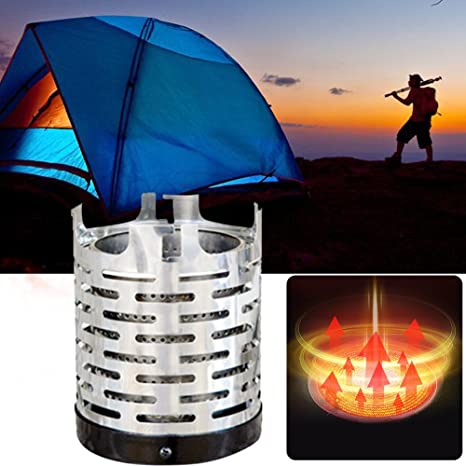 Yosoo Health Gear Portable Mini Camping Heating Stove Cover for Outdoor Backpacking Hiking Traveling BBQ Tent Heating Cover Tool