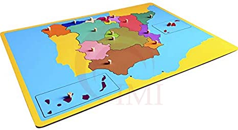 International Montessori Institute- Mapa Puzzle De España en Madera: Amazon.es: Industria, empresas y ciencia