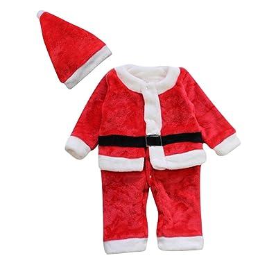 Le SSara Bebé Invierno Navidad Mameluco recién Traje Traje Traje Sombrero 2pcs