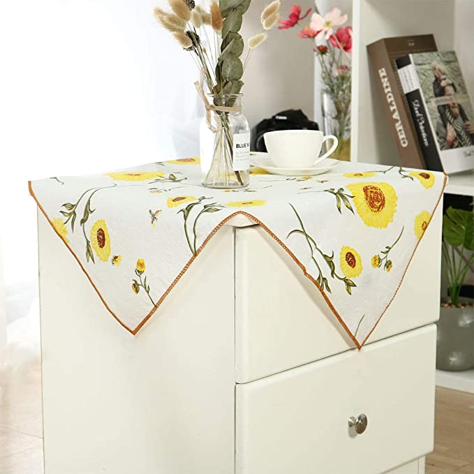 sourcing map Mantel de PVC para tablas impresas florales ...