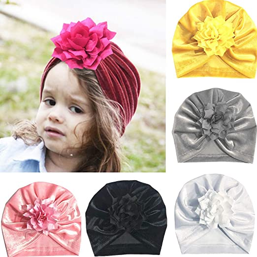 1a65743d9 Amazon.com: Outsta Hat&Cap Cute Baby Girls Boys Bow Turban Hat ...