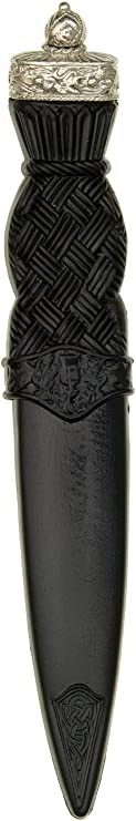 J Wood Serpent Safety Sgian Dubh with Stone JewelNo Blade