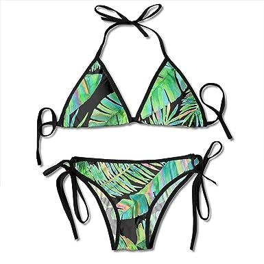 Mujeres Bella Selva Hojas Verdes Bikini Sexy Traje de baño ...