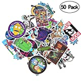 #2: Rick and Morty Stickers [50 PCS], Waterproof Rick and Morty Theme Stickers for Decorate Luggage, Laptop, Bicycle, Cars, Skateboards, Notebooks, Wall etc. No-Duplicate Cartoon Stickers Pack