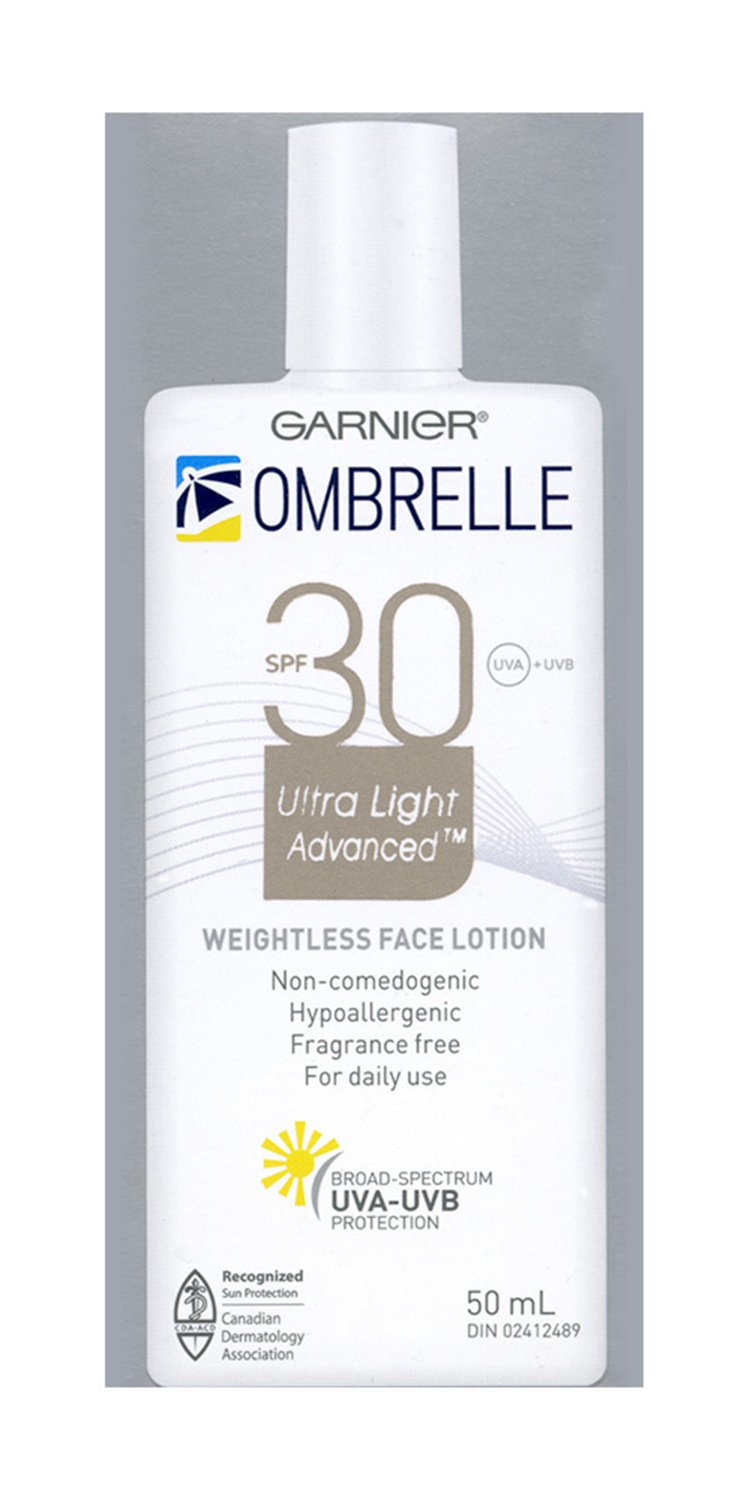 Garnier Ombrelle Ultra Light Face Sunscreen Lotion SPF 30, 50 ML