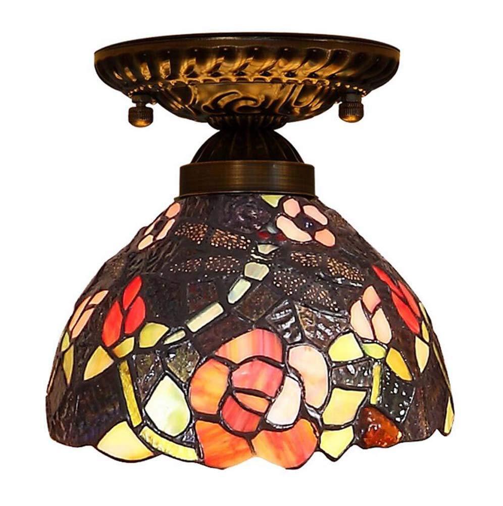 Pastoral europea Tiffany Style Lámpara de techo Lámpara de ...