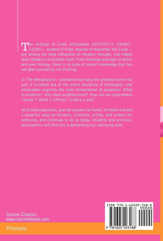 the metaphysics cosimo classics philosophy aristotle john h the metaphysics cosimo classics philosophy aristotle john h mcmahon 9781605203188 amazon com books