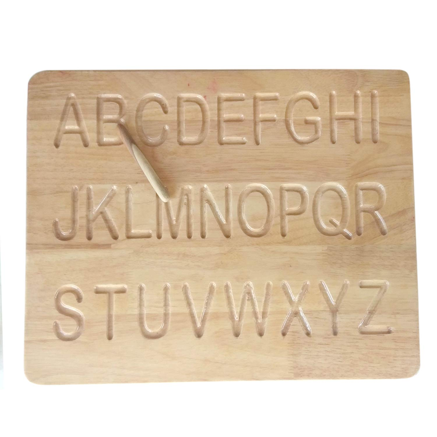 Printed Alphabet Wood Tracing Board Lowercase and/or Uppercase - Wooden Gifts - Baby Gifts - Grand Daughter Gifts - Class Room Gifts - Birthday Gifts by Crystal pearls